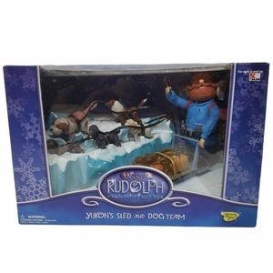Rudolph & The Island of Misfit Toys-Yukon's Sled & Dog Team set DAMAGED BOX